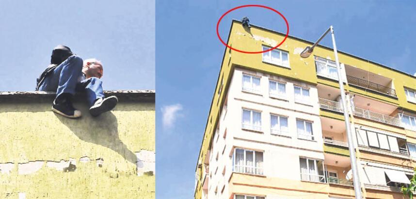 50 bin TL borcu olan esnaf çatıya çıktı!
