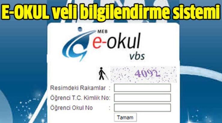 E-Okul öğrenci giriş sayfası ile not sorgulama