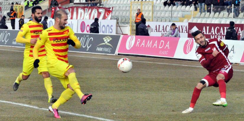 PTT 1. Lig zirve mücadelesinde Elazığspor, Göztepe ile berabere kaldı
