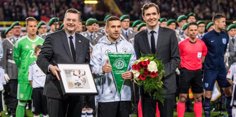 Podolski, Almanya Milli Takımı'na golle veda etti
