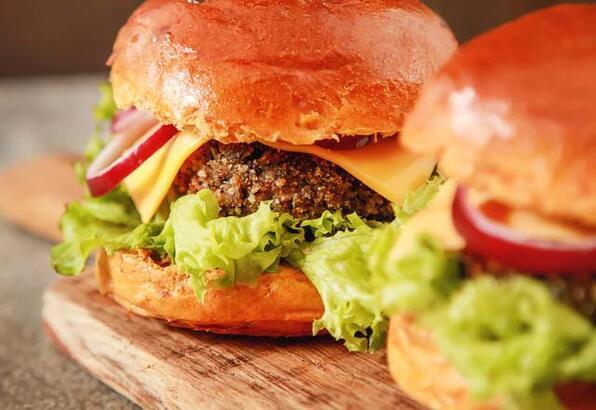 Patlıcan köfteli hamburger tarifi (Vegan)