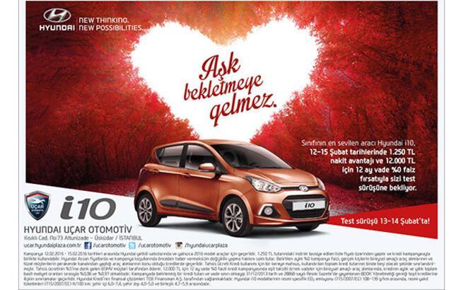 Hyundai'dan Sevgililer gününe özel fırsat