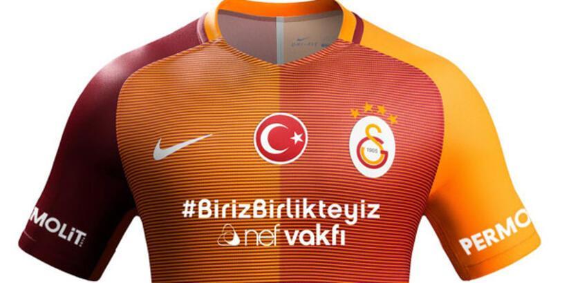 Galatasaray'ın derbi formasında hashtag sürprizi!