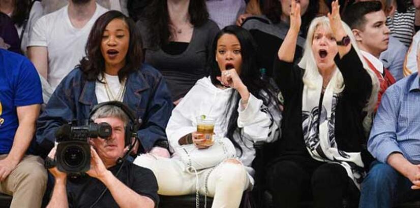 Rihanna'nın heyecanlı dakikaları!
