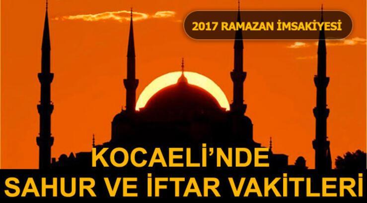 Kocaeli'de sahur ve iftar vakti saat kaçta? (İzmit Ramazan İmsakiyesi 2017)