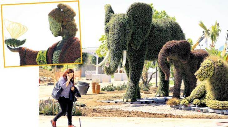 İnsanlık tarihi, bitki heykellerle anlatıldı