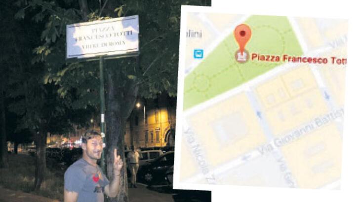 Roma Kralı  Totti Meydanı!