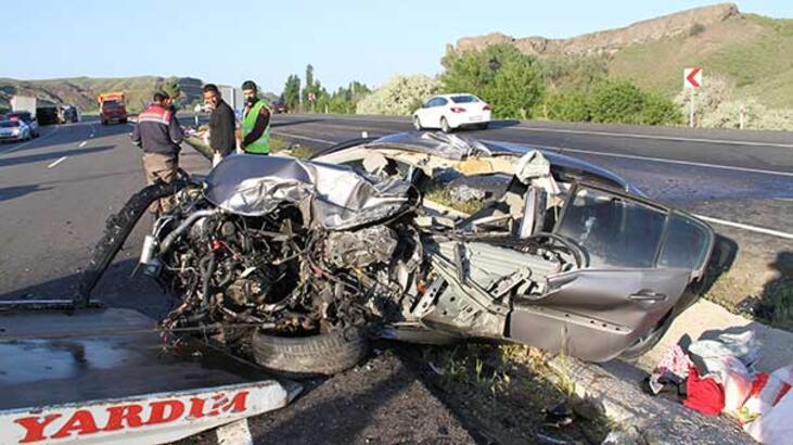 Yozgat'ta feci kaza: 1 ölü 2 yaralı