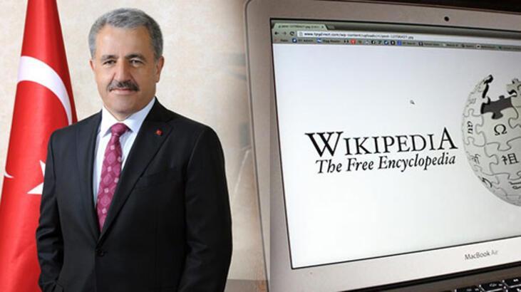 Bakan Arslan'dan Wikipedia açıklaması!