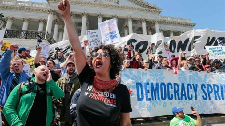 ABD'de halk ayaklandı! 500 kişi gözaltına alındı