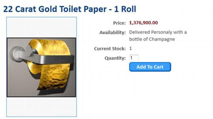 1.5 milyon dolarlık tuvalet kâğıdı