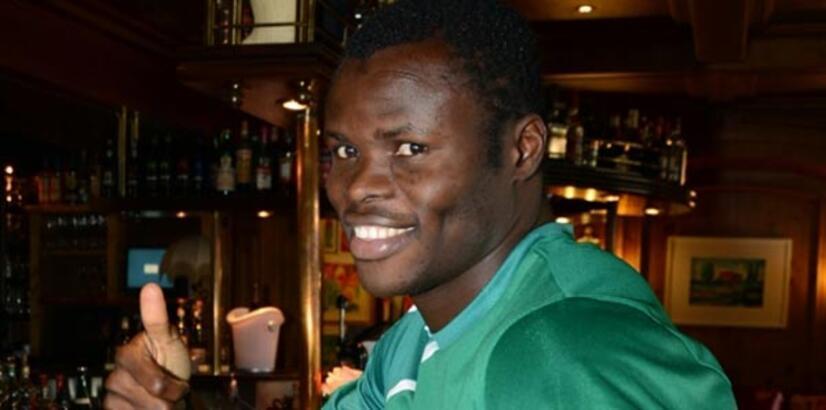 Bursa'da mutlu bir Nijeryalı