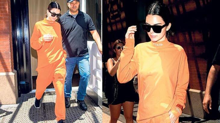 Kendall Jenner'ın ilginç stili!