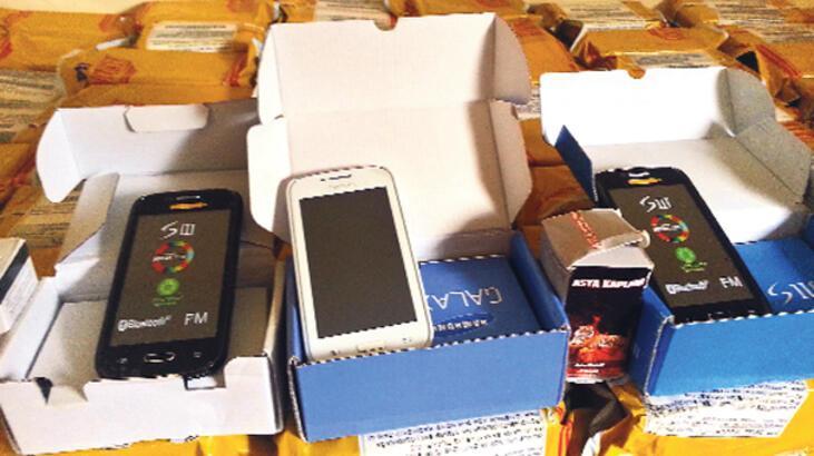 2 milyon tl'lik kaçak telefona el kondu