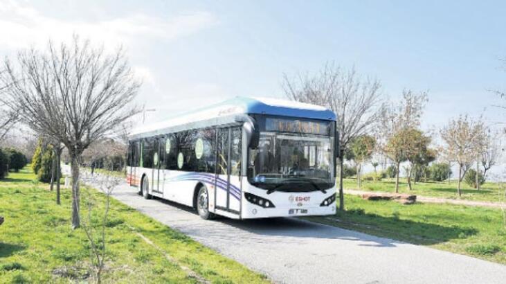 Elektrikli otobüsle 'tasarruf' zamanı