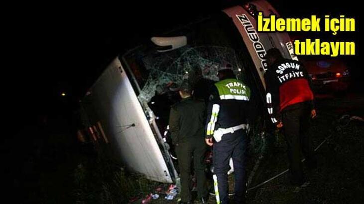 İki kentte iki otobüs devrildi: 3 ölü, 51 yaralı