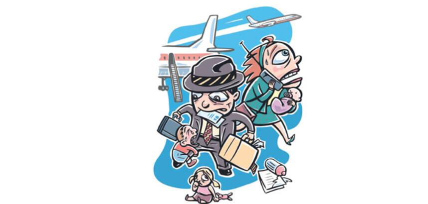 Dikkat, uçakta çocuk var!