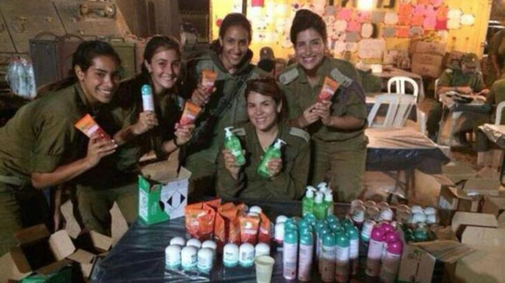 İsrailli askerlere şoke eden destek