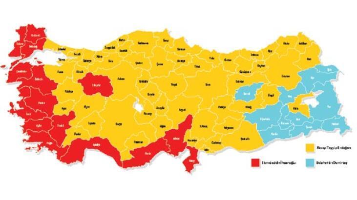 Türkiye haritasında tablo yine değişmedi