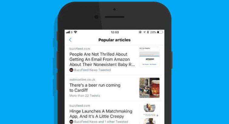 Twitter'da 'Popüler Makaleler' dönemi başlıyor