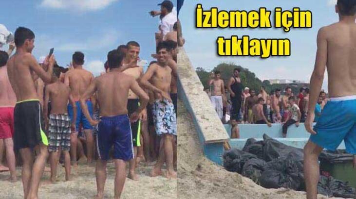 Florya plajındaki Suriyeliler sosyal medyada tartışma yarattı