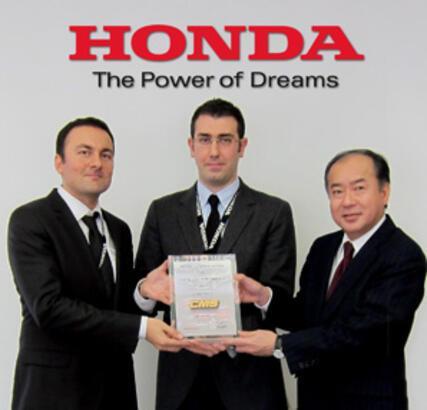CMS'ye Honda Avrupa'dan Mükemmellik Ödülü!
