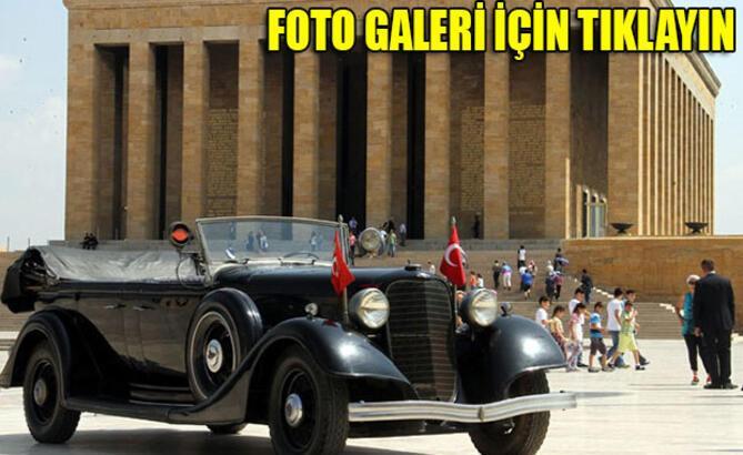 Atatürk'ün otomobili törenle bakıma gönderildi