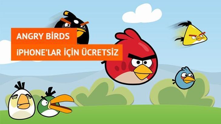 Angry Birds'ün iPhone Versiyonu Artık Ücretsiz