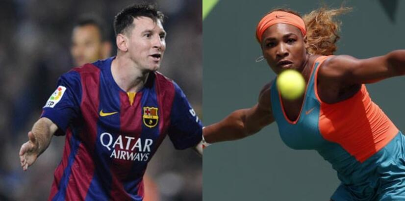 Messi ile Serena'dan çocuklara destek
