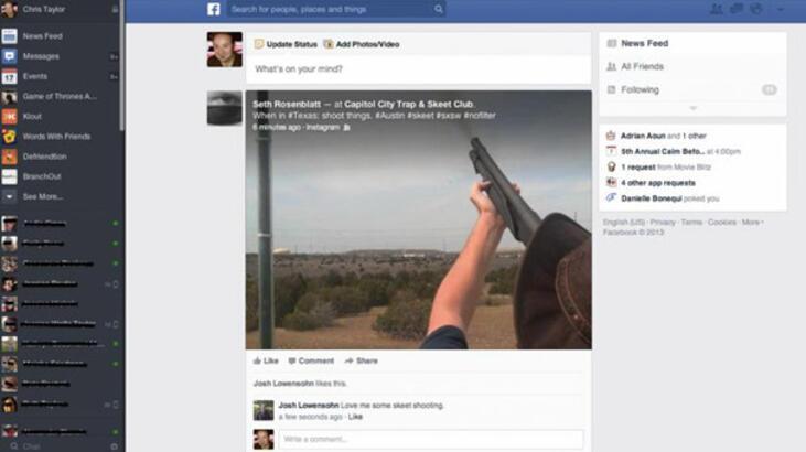 Facebook değişiyor! İşte yeni görüntüsü...