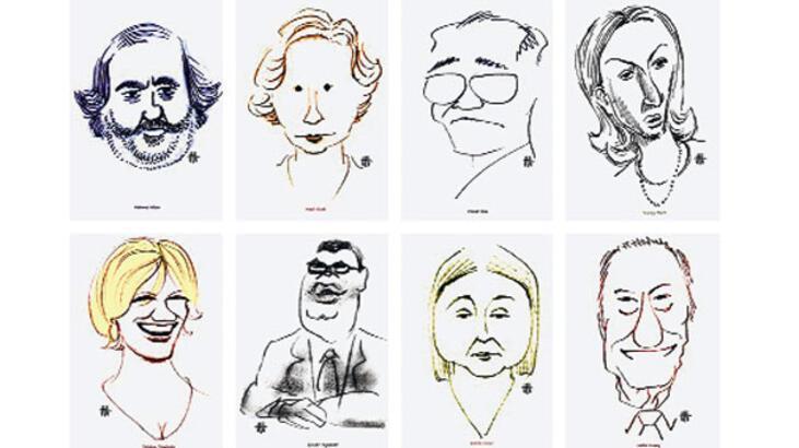 Gazetecilerin  karikatürleri