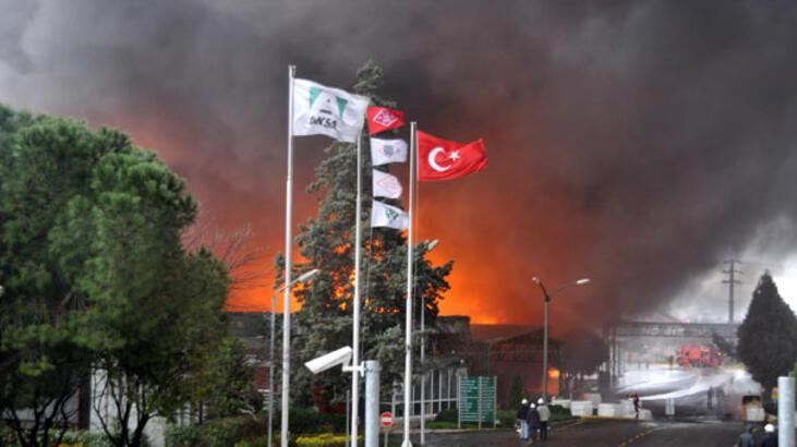 Aksa Fabrikası'nda yangın!