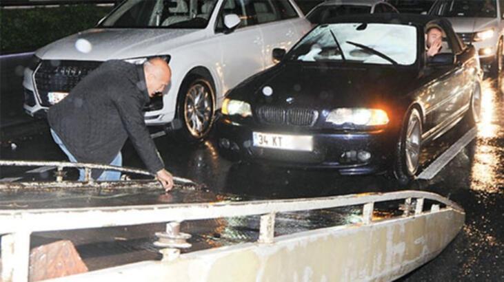 Kaan Tangöze'nin otomobili yolda kaldı