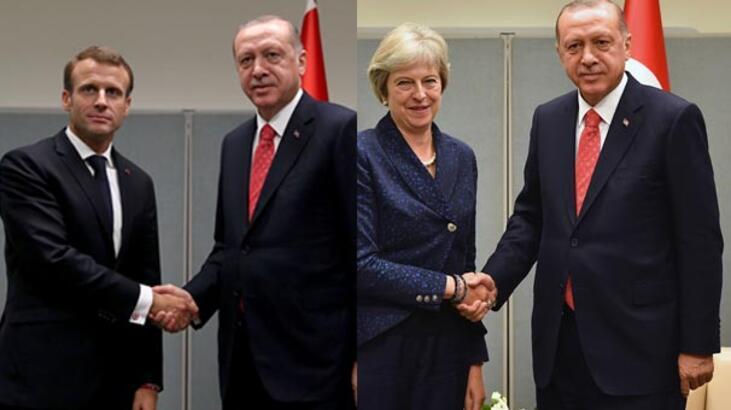 Son dakika | Erdoğan'dan üst düzey görüşmeler! Önce May sonra Macron...