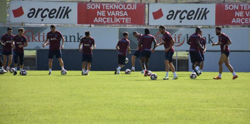 Trabzonspor'da pas ve şut çalışması