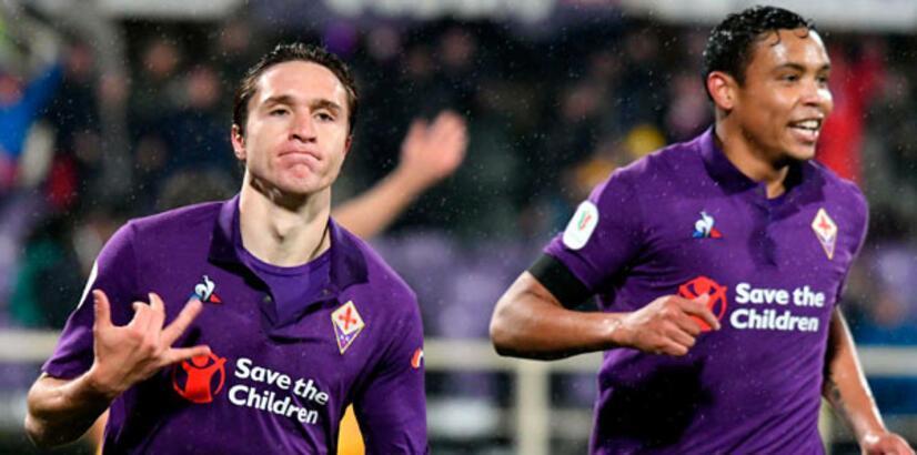 Fiorentina, Roma'yı dağıttı! 8 gol, 1 kırmızı...
