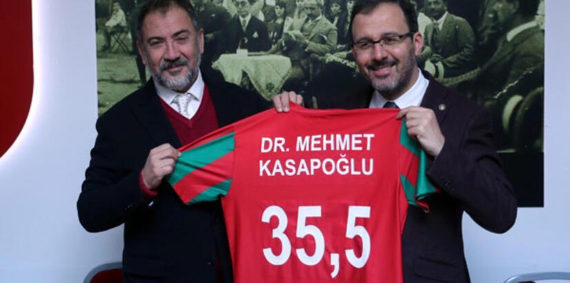 Bakan Kasapoğlu'ndan Karşıyaka'ya ziyaret