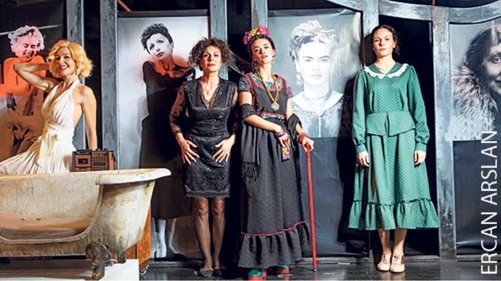 Efsane kadınlarla sahnede yüzleşme