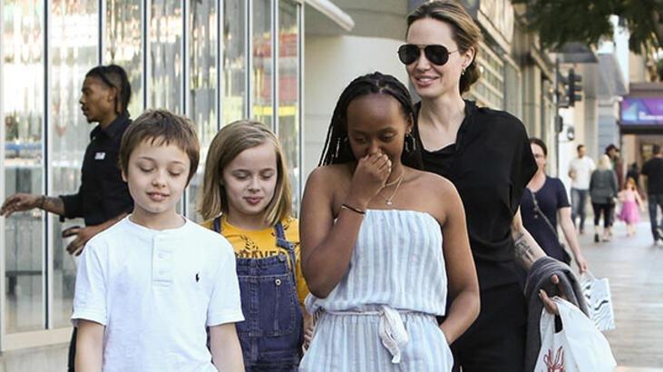 Angelina Jolie'nin suşi keyfi