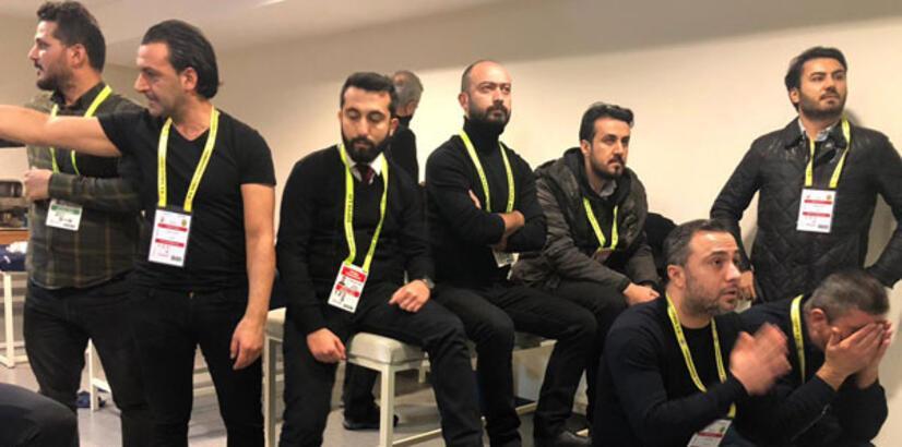 Malatyasporlu yöneticiler maçı soyunma odasında izledi