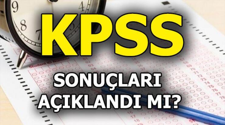 KPSS sonuçları o tarihte açıklanacak! KPSS ortaöğretim sonuçları