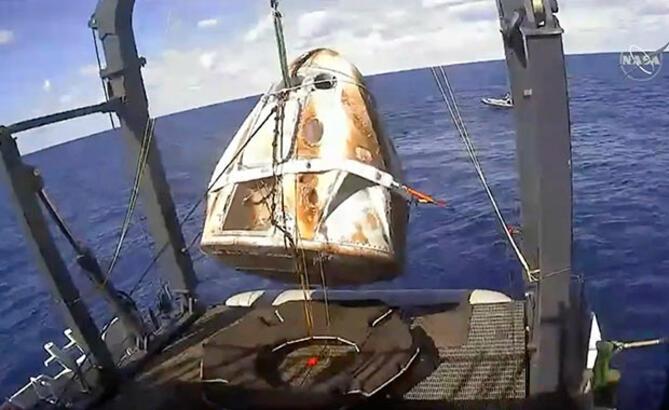 SpaceX'in Crew Dragon mekiği Dünya'ya döndü