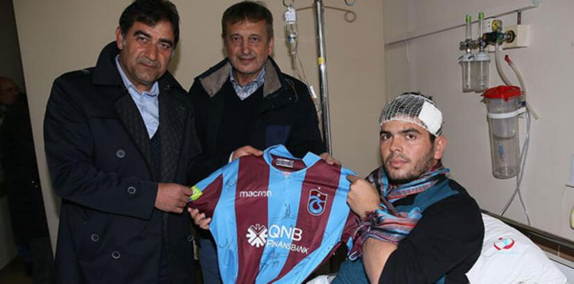Trabzonspor'dan Gazi Muhammet Atmaca'ya ziyaret
