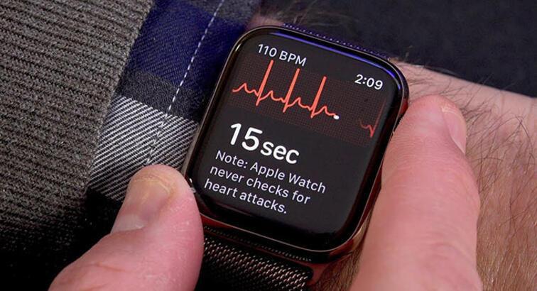Apple Watch'taki EKG uygulamasıyla kalp sorununu keşfetti