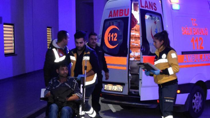 Kayseri'de 59 düzensiz göçmen gıda zehirlenmesi şüphesiyle hastaneye kaldırıldı