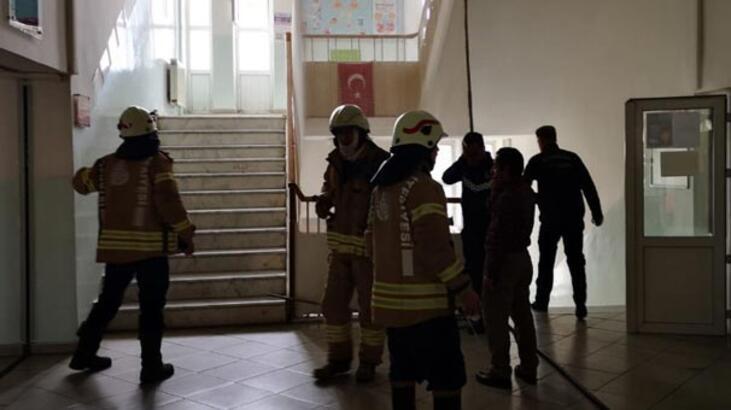 Üsküdar'da okulda yangın