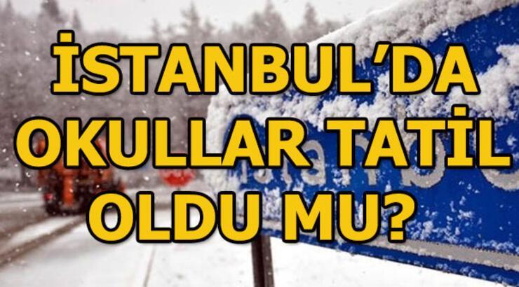 İstanbul'da okullar tatil mi? 25 Şubat Pazartesi İstanbul Valiliği açıkladı...