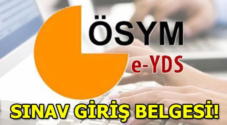 e- YDS sınav giriş belgesi sorgulama ekranı!