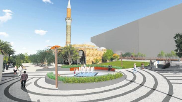 600 yıllık camiye çevre düzenlemesi