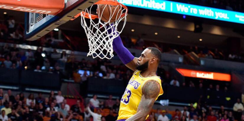 LeBron James'den eski takımı Miami Heat'e 51 sayı